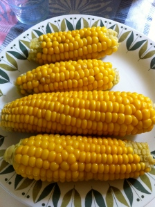 Nyskördad majs